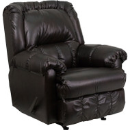 Flash Furniture Contemporary Marshall Walnut Leather Rocker Recliner - HM-750-MARSHALL-WALNUT-GG