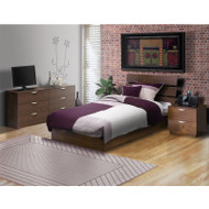 Nexera Nocce 3-Piece Full Size Bed Bedroom Collection - 400133