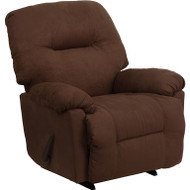 Flash Furniture Contemporary Calcutta Chocolate Microfiber Chaise Rocker Recliner - AM-9350-2550-GG