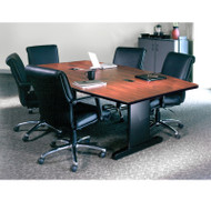 Mayline CSII Conference Table Boat-Shaped with Premier Legs 72W x 36D x 29H - R73BP