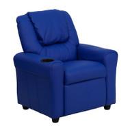 Flash Furniture Kid's Recliner with Cup Holder Blue Vinyl - DG-ULT-KID-BLUE-GG