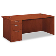 HON Park Avenue Laminate Collection Single Pedestal Desk Left, Assembled - PC027LVJ