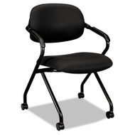 Basyx Black Mesh Back Nesting Arm Chair (2-Pack) - VL303MM10T