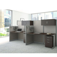 Bush Office-in-an-Hour Desk Straight Workstation 2-units - OIAH005MOC