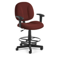 OFM Superchair Task Stool with Arms - 105-AA-DK