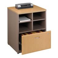 "BBF Bush Series A Storage Cabinet 24"" Light Oak - WC64323P"