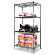 Alera Wire Shelving Starter Kit, 4 Shelves - SW50-3624