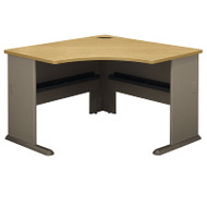"BBF Bush Series A Corner Desk in Light Oak 48""W - WC64366"