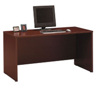 "BBF Bush Series C Credenza Desk in Mahogany 60""W x 24""D - WC36761"
