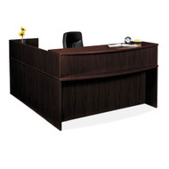 Basyx L-Shaped Reception Desk w/ Pedestals  - BASPACKAGE3