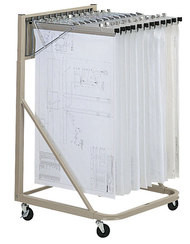 Mayline Vertical Hanging File with 12 hangers and clamps - 9324