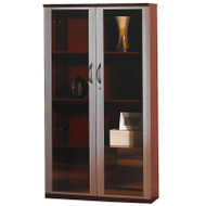 """* MONTHLY SPECIAL! Mayline Napoli or Corsica Veneer 68"""" Wall Cabinet with Glass Doors Sierra Cherry - VCG-CRY"""