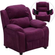 Flash Furniture Kid's Recliner with Storage Purple Microfiber - BT-7985-KID-MIC-PUR-GG