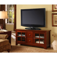 "Walker Edison Becket 52"" TV Console - Walnut Brown  - W52C2DWWB"