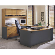 BBF Bush Series C Package Executive U-Shaped Bowfront Desk Natural Cherry - NCPackageA