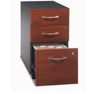 BBF Bush Series C Mobile File Cabinet 3-Drawer in Hansen Cherry Assembled - WC24453SU
