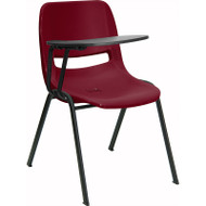 Flash Furniture Burgundy Plastic Shell-Chair with Right Tablet - RUT-EO1-BY-RTAB-GG