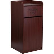 Flash Furniture Indoor Laminate Waste Receptacle Mahogany - MT-M8520-TRA-MAH-GG