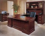 DMI Governor's Series Executive Desk Workstation U-Shaped Right - 7350PACKAGEA