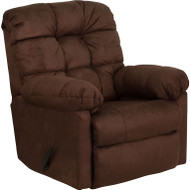 Flash Furniture Contemporary Padded Walnut Microfiber Rocker Recliner - HM-400-PADDED-WALNUT-GG