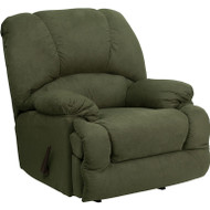 Flash Furniture Contemporary Glacier Olive Microfiber Chaise Rocker Recliner - AM-9700-7903-GG