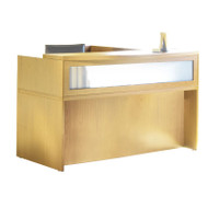 Mayline Aberdeen Reception Desk L-Shaped with two Pedestal File Drawers Maple - ABEPackage4-LMA