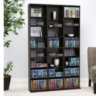 Atlantic Oskar Media Cabinet 756 CD or 360 DVD or Blu-Ray or Games in Espresso - 38435713