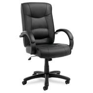 Alera Strada Series High-Back Chair Black Leather - SR41LS10B