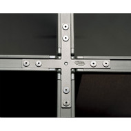 Bush X Connector for Propanel System Privacy Office Panel - Slate - PP84714-03