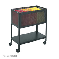 Safco Steel Mesh Open Top Mobile Tub File - 5350BL