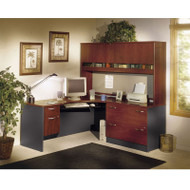 BBF Bush Series C Package Executive L-Shaped Corner Desk Hansen Cherry - HCPackageE