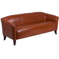 MONTHLY SPECIAL! Flash Furniture Hercules Imperial Series Cognac LeatherSoft Sofa - 111-3-CG-GG