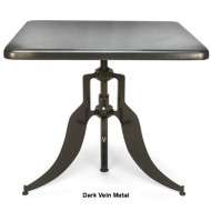 "OFM Endure Series Metal Square Adjustable Height Table 36"" - AT36SQ-DVN"