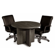 "* MONTHLY SPECIAL! Mayline Aberdeen Conference Table Round 42"" Gray Steel - ACTR42-LGS"