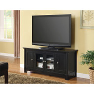 "Walker Edison Carver 52"" TV Console, Matte Black - W52C4DOBL"