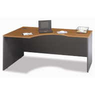 "BBF Bush Series C Corner Desk Left  in Natural Cherry 72""W - WC72432"