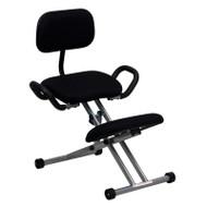 Flash Furniture Ergonomic Kneeling Chair with Handles in Black - WL-3439-GG