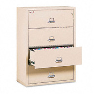 FireKing 4-Drawer Lateral Fire and Impact Resistant Letter/Legal File 37 1/2W x 22 1/8D - 43822CPA