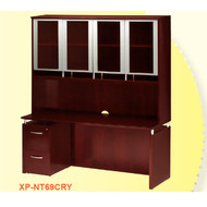 """CLEARANCE SPECIAL! Mayline Napoli Veneer Credenza 63"""" and Pedestal Package Sierra Cherry - XP-NT69-CRY"""