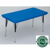 Correll Blow-Molded Plastic Top Activity Table 30 x 96 - AR3096-REC