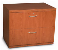 """Mayline Aberdeen Lateral File Cabinet 36"""" Free Standing Cherry Finish - AFLF36-LCR"""