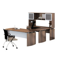 """* MONTHLY SPECIAL! Mayline Medina Laminate Executive 63"""" Desk U-Shaped Package Left Textured Brown Sugar Finish - MNT33TBS"""