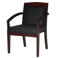 Mayline Mercado Wood Guest or Reception Chair (pack of 2 chairs) Mahogany - VSCABMAH