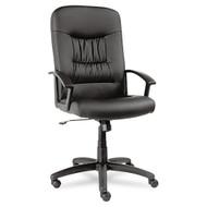 Alera York Series High-Back Swivel / Tilt Chair Black Leather - YK41LS10B
