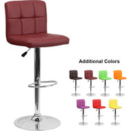 Flash Furniture Contemporary Quilted Vinyl Adjustable Height Barstool - DS-810-MOD-XX-GG
