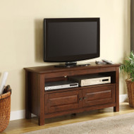 "Walker Edison Cortez 44"" TV Console, Brown - WQ44CSTB"
