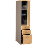 BBF Bush Series A Vertical Locker Light Oak ASSEMBLED 16W x 20.25D x 66.25H - WC64375PSU