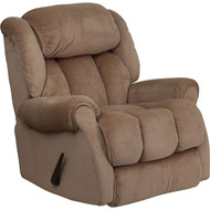Flash Furniture Contemporary Champion Camel Microfiber Chaise Recliner - AM-9650-2050-GG