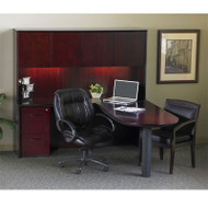 """* MONTHLY SPECIAL! Mayline Corsica Veneer Peninsula Desk and Credenza 72"""" Sierra Cherry - CT19-CRY"""