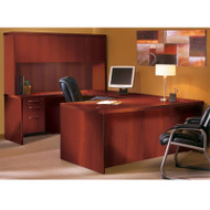 """* MONTHLY SPECIAL! Mayline Aberdeen Executive U-Shaped Desk 72"""" w/Wood Door Hutch Package Cherry - AT4-LCR"""